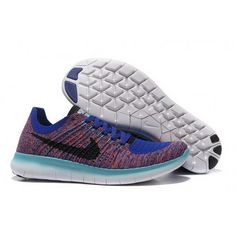Mens Nike Free Flyknit 5.0 Saphire Fuchsia Shoes