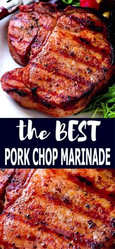 Grilled pork chop marinade – Grilled pork chop marinade – another delicious reason to use your grill! – Grilled pork chop marinade – Grilled pork chop marinade – another delicious reason to use your grill! Easy Pork Chop Recipes, Grilling Recipes, Pork Recipes, Pork Marinade Recipes, Pork Recipe Grill, Grilled Porkchops Recipes, Pork Steak Marinades, Iowa Chops Recipe, Chicken Chop Recipe