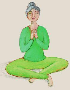 Il respiro del vittorioso. Seduti comodi, con la schiena dritta, il vertice del capo che guarda il cielo (dunque il mento un po' abbassato), tenendo ferma la parte bassa del ventre, inspirare lentamente dal naso sentendo che il busto si allarga in avanti, di lato, dietro e anche verso le spalle, espirare lentamente dal naso, col busto che si svuota. Ripetere più volte, cercando maggiore ampiezza possibile di questo respiro, che calma la mente e pulisce le vie respiratorie.