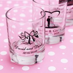 Personalized Wedding Favor Shot Glass   Personalized Shot Glass Favors - Beach Theme Wedding Favors - Wedding ...