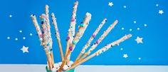 Wir haben Einhorn-Zauberstäbe für den Kindergeburtstag für euch! Die sind total süß und schnell aus ein paar Grissini gemacht. Hier geht's zum Rezept...