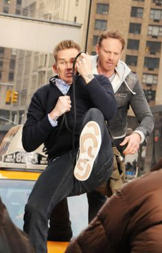 "Swinging, | First Photos From The Set Of ""Sharknado 2"""