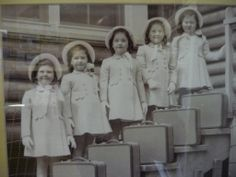 The Dionne Quints were the world's first quintuplets to survive. Born in 1934 near North Bay Ontario, they were taken from their parents when they were four months old and remained in the custody of the Canadian government until they were nine years old!