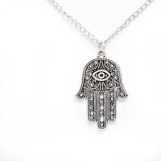 Yoga Hand Of Fatima Hamsa Protection Necklace