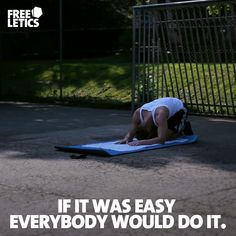 We will not tell you that it is going to be easy. Every workout, every repetition is a challenge for itself. The road to success is never easy. Easy isn't what we are aiming for. You need to push forward and accept the challenge. Go out and earn it ►►► www.frltcs.com/Athlete