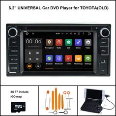 Quad Core Android 5.1 CAR DVD GPS for TOYOTA UNVIERSAL car radio car stereo car gps Capacitive touch screen 16GB Rom
