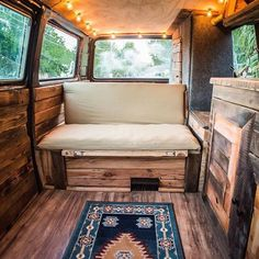 Excited to finally have the couch done!  #vanlife  #projectvanlife…