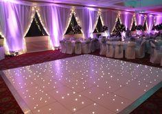 34 ideas wedding backyard decorations dance floors for 2019 Dance Floor Wedding, Tent Wedding, Wedding Stage, Wedding Backyard, Diy Wedding, Wedding Tent Lighting, Wedding Ceiling, Wedding Flowers, Wedding Summer