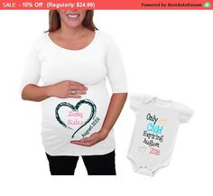 """Spring Sale 10% Discount Ends April 15th Mother's day gift Maternity Shirt """"Baby Sister or brother"""" """" only child""""... by DJammarMaternity on Etsy"""