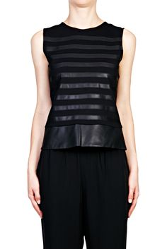 Pryor Gaian Sleeveless Top - BLACK   THEORY   Green with Envy