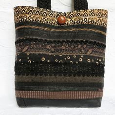 Check out this item in my Etsy shop https://www.etsy.com/ca/listing/474612904/black-quilted-bag-quilted-tote-bag