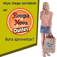 Hoje chegou roupa nova na... Roupa Nova Outlet. O preço é de promoção. Cê vai perder? Polos, camisas e camisetas masculinas e também roupa feminina. #RoupaNova #Outlet #RoupaNovaOutlet #ModaMasculina #ModaFeminina #ModaInfantil
