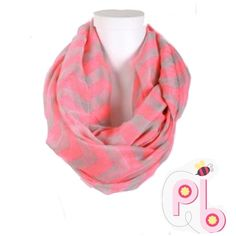 $3.99 ShippingHost Pickpink infinity Scarf There's no need to fear low temps or lackluster outfits while wearing this stylish infinity scarf! Boasting a playful chevron pattern and swoon-worthy softness, it makes ensembles come alive, while shivers don't stand a chance.Host Pick 1/27/16  24'' W x 36'' circumference 100% viscose Accessories Scarves & Wraps