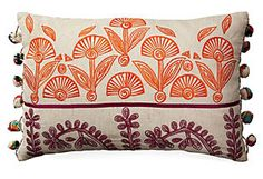 Lacee Pom-Pom 12x18 Pillow, Natural Karma Living