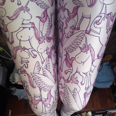 Unicorn Leggings (Made to Order) | Black Milk Clothing    I NEED THESE IN MY LIFE!!!