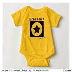 Daddy's Star Limited Edition Baby Bodysuit