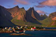 Sorvagen. Moskenesoy Island. Lofotens. Norway