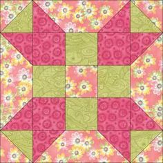 "Fool's Square Quilt Block Pattern 5"""