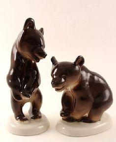 RUSSIAN Imperial Lomonosov Porcelain Sculpture Young Moose Elk Brown Discount