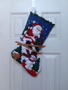 Finished 18 Bucilla Christmas Stocking por JillianBCreations