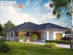 Projekt domu Aster 2 - wizualizacja frontowa Modern Properties, Kerala House Design, Kerala Houses, House Elevation, Model Homes, Minimalist Home, My Dream Home, Home Projects, Tiny House