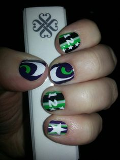 Super Bowl nails designed at www.angieschulz.jamberrynails.net