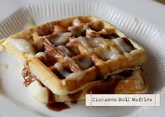 Diary of Regular Moms: Waffles, Cinnamon Roll Style