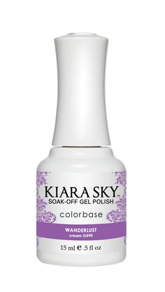 Kiara Sky Nail Lacquer is an advanced formula free of Formaldehyde, Toluene, and DBP. This soak-off gel polish can be applied as a two or three step system and will cure in 30 seconds under LED lamp or 2 minutes under UV lamp. Gel Polish Colors, Gel Nail Polish, Ombre Gel Polish, Pink Polish, Kiara Sky Gel Polish, Nail Lacquer, Sky Nails, Soak Off Gel Nails, Purple Reign