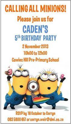 Caden's invite :)
