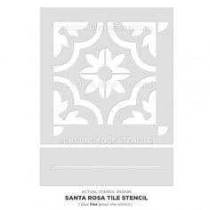 Stencil Painting, Tile Stencils, Tile Edge, Cutting Edge Stencils, Painted Floors, Painted Tiles, Small Tiles, Stenciled Floor, Stencil Designs