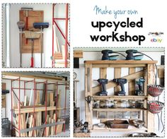 Create and organize your own workshop, upcycled style! Fabulously creative fixes for workshop needs. By Funky Junk Interiors, written for ebay.com
