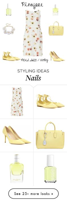 """""""Plus Size /Curvy Pinafore Dress"""" by jessicasanderstx on Polyvore featuring Dorothy Perkins, MCM, Jimmy Choo, Essie, Hermès and pinafore"""