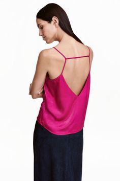 Top de alças em cetim | H&M