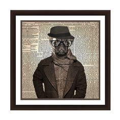 PTM Images Hipster Pug Framed Giclee Print ($33) ❤ liked on Polyvore featuring home, home decor, wall art, pug home decor, hipster home decor, animal wall art, giclee wall art and pug wall art