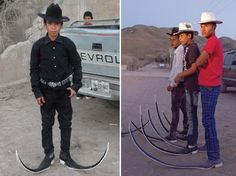 Mexican pointed boots..and I thought the boots at the flea market were outrageous !!