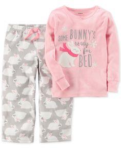 23b2dae42 Carter's 2-Pc. Bunny's Ready For Bed Pajama Set, Toddler Girls & Reviews -  Pajamas - Kids - Macy's