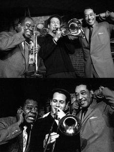 "Louis Armstrong, Paul Newman and Duke Ellington in ""Paris Blues"" (1961). Director: Martin Ritt."