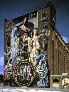 Common Threads Restoration (Image credit: City of Philadelphia Mural Arts Program)    A modern take on Victorian era art.