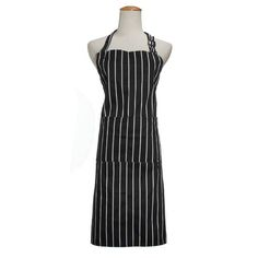 Description : Adult Adjustable Black White Stripe Kitchen Apron Chef Uniforms with 2 Pockets One size fits most. High quality material is easy for you to wash. Suitable for use in the kitchen or usual messy jobs around the home. Pocket sewed on front is convience for you to place phone or other...