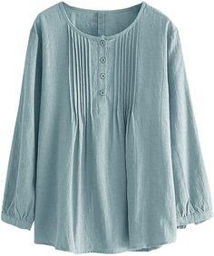 Tunic Shirt, Shirt Blouses, Tunic Tops, Dress Shirts For Women, Blouses For Women, Cotton Blouses, Blouse Designs, Linen Tops, Linen Shirts