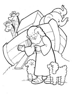 noah coloring page - Colouring In Pictures For Children