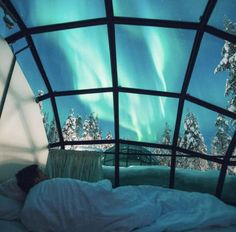A dream spot, Watching the northern lights from an igloo in Lapland.
