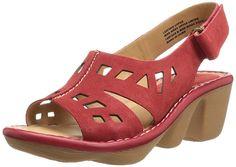 Earth Women's Stargaze Wedge Sandal,Jazzy Red,6 M US