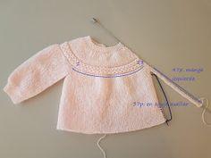"JUBILOCIOS: JERSEY DE BEBÉ, CANESÚ DE OCHOS (JERSEY ""PRINCESA"") Crochet Baby Jacket, Knitted Baby Cardigan, Baby Pullover, Knitted Baby Clothes, Hand Knitted Sweaters, Baby Sweaters, Knit Crochet, Baby Sweater Patterns, Baby Sweater Knitting Pattern"