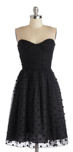Darling black polka dot dress.