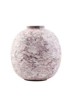 Højde 14 cm Effekt vase - brun kr. 145,-