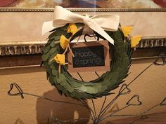Last month we all got together and made the Lovely Little Wreath kit from Paper Pumpkin. Every month Stampin' Up sends out a crafty kit to y. Paper Pumpkin, Grapevine Wreath, I Card, Stampin Up, Card Making, Wreaths, Kit, Crafty, Halloween