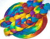 Merino-Tussah Silk Spinning Fiber - 'Pelennor'