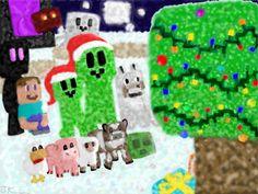 A Very Minecraft Christmas by ~KeyboardingChihuahua on deviantART