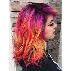 Gorgeous Colors!  Hair by: @beautybystacey_ Mermaid: @missy_miss09  #mermaidians